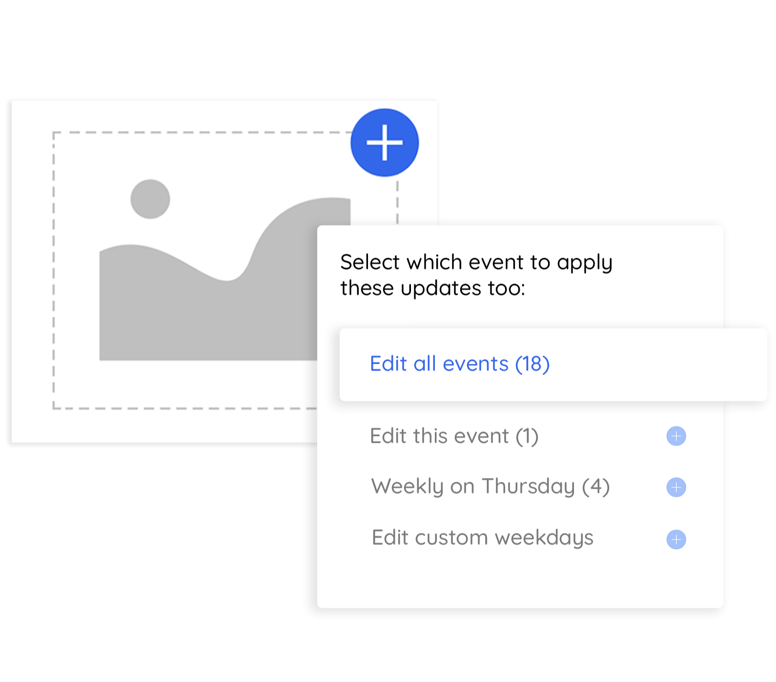 edit your entire schedule of recurring events
